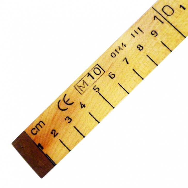 Brass Ended Wooden Government Stamped Rule Metre Stick