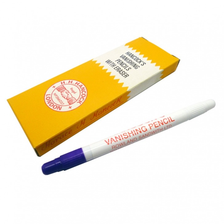 Blue Tailors Vanishing Pencils with Eraser - 5 Pack
