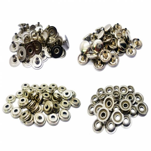 Size 24 (Regular) Individual Snap Fastener Parts