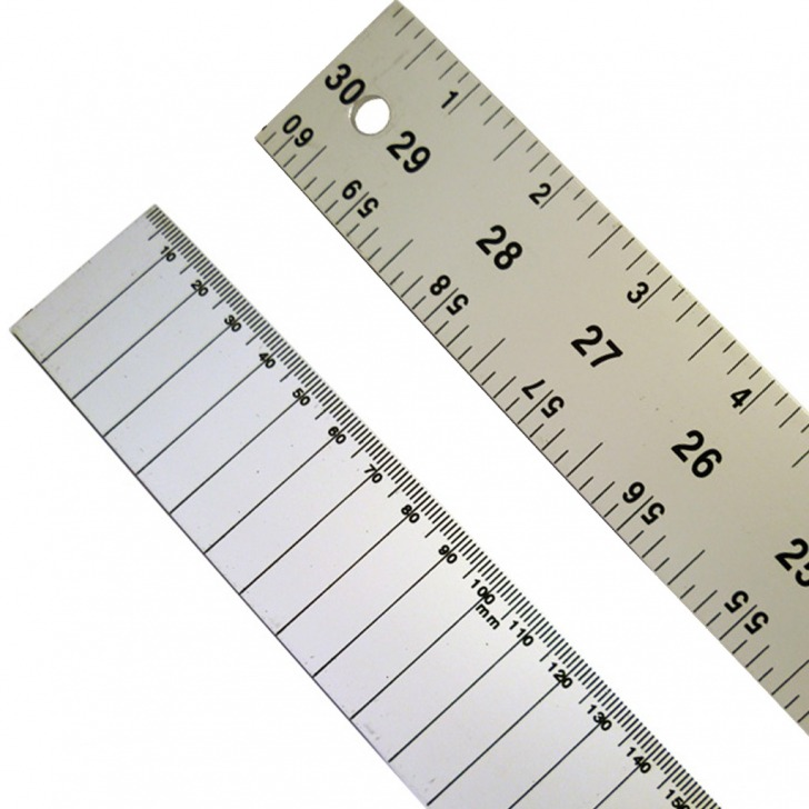 "C.S. Osborne 60"" Aluminium Rule Double Sided - Dual Marked"