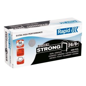 Rapid 26 Series Staples for K1 Classic - 8mm SUPER STRONG - 5000