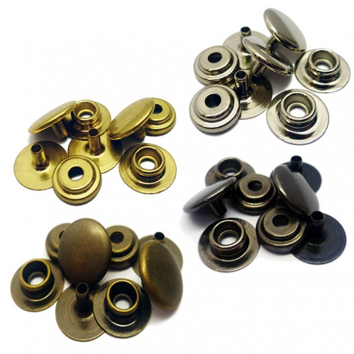 Size 24 (Regular) Snap Fasteners - 4 Piece Set