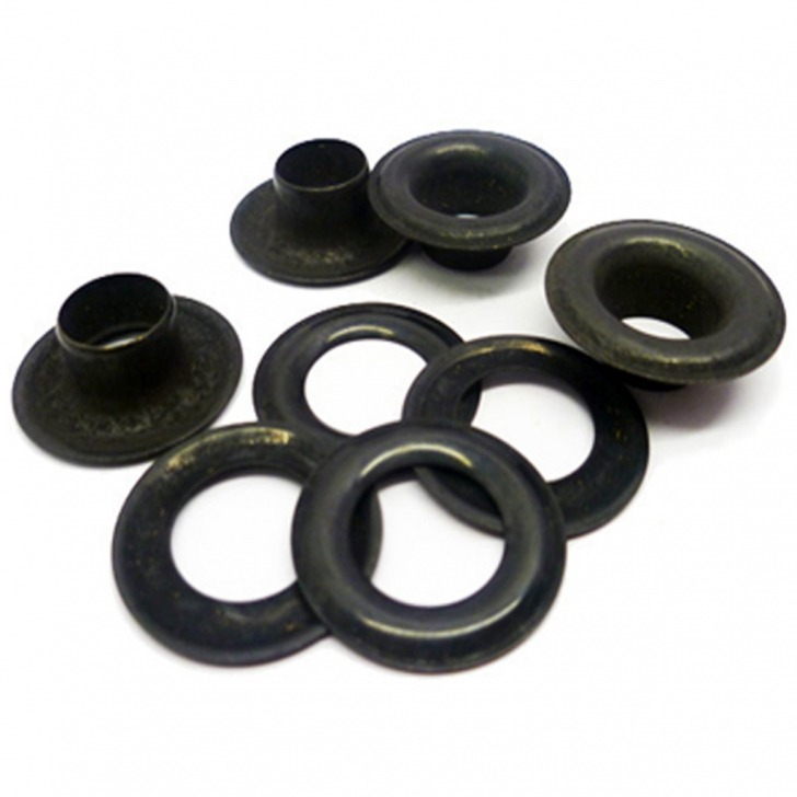 Black Plated Brass Eyelets