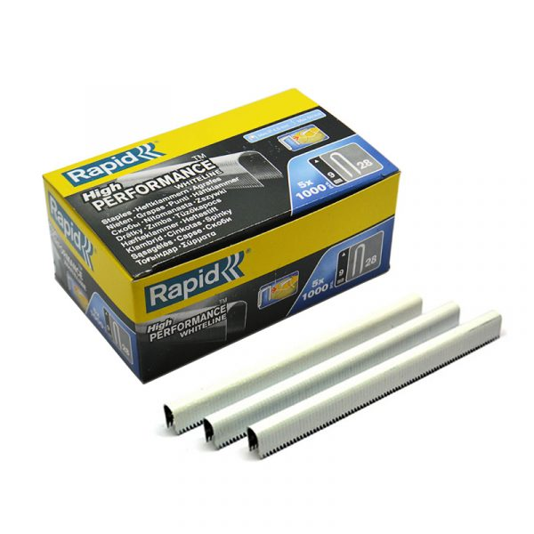 R28 White Cable Staples 9mm
